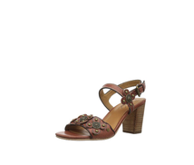 Patricia Nash Women's Leona Heeled Sandal, Tan