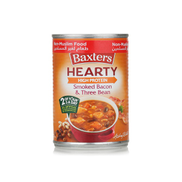 Baxters smoked bacon & three bean soup 400g