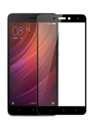 3D Full Screen Surfaces Tempered Glass Protector By Ineix For Xiaomi Redmi Note 4 4X - BLACK