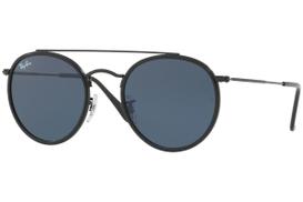 Ray Ban - Unisex Full Rim Round Metal Black Sunglasses RB3647N-002 R5-51 RB3647N