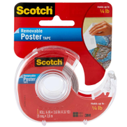 3M Scotch Removable Poster Tape 3 4 inch X 150
