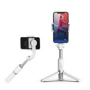 Edragonmall L08 حامل سيلفي برأس مضاد للاهتزاز لهواتف IOS و Android 20 سم أبيض