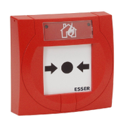 Esser IQ8MCP Manual Call Point compact, small, red, with isolator and glass pane