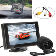 Others 4.3 inch color tft lcd pocket-sized car rear view monitor parking + e306 18mm cmos ccd auto car rearview reverse backup camera