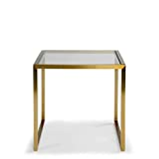 Side Table Simplicity Iron Art Gl